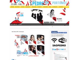 festas-saopedro.pt screenshot