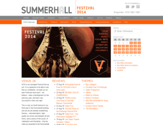 festival14.summerhall.co.uk screenshot