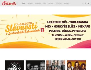 festivalcervenik.sk screenshot
