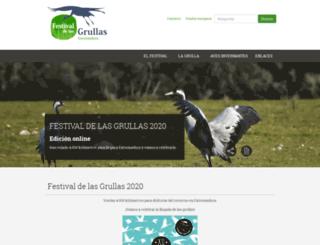 festivaldelasgrullas.gobex.es screenshot