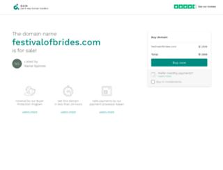 festivalofbrides.com screenshot