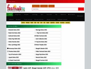 festivalsdatetime.co.in screenshot
