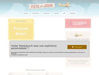 fetedujour.fr screenshot