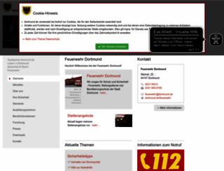 feuerwehr.dortmund.de screenshot