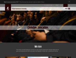 fhu.edu screenshot