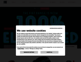 fiat.co.uk screenshot