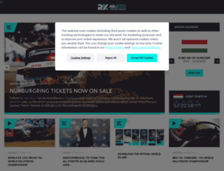 fiaworldrallycross.com screenshot