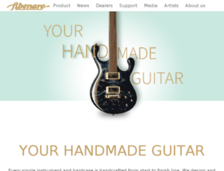 fibenare-guitars.com screenshot
