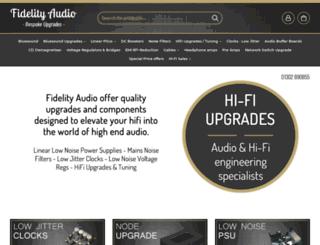 fidelityaudio.co.uk screenshot
