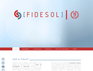 fidesol.org screenshot