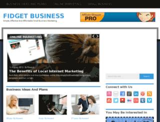 fidgetbusiness.com screenshot