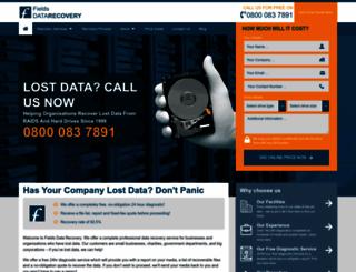 fields-data-recovery.co.uk screenshot