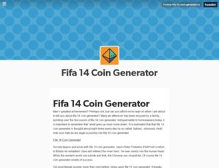fifa-14-coin-generator-x.tumblr.com screenshot