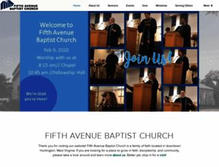fifthavenuebaptistchurch.cloversites.com screenshot
