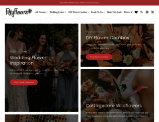 fiftyflowers.com screenshot