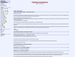 fightingamphibians.org screenshot