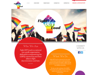 fightoutloud.org screenshot