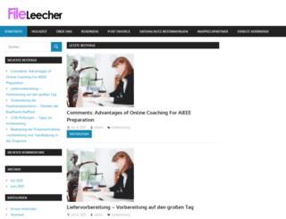 fileleecher.com screenshot