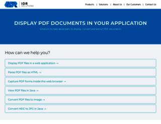 files.idrsolutions.com screenshot