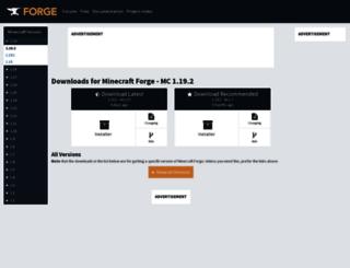 files.minecraftforge.net screenshot
