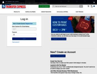 fileupload.transferexpress.com screenshot