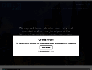 filmlondon.org.uk screenshot