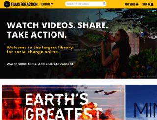 filmsforaction.org screenshot
