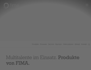 fima.de screenshot