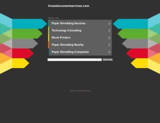 finaledocumentservices.com screenshot