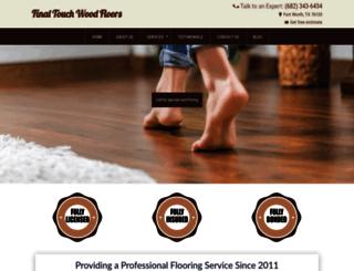 finaltouch-woodfloors.com screenshot