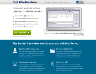 finalvideodownloader.com screenshot