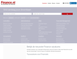 finance.nl screenshot