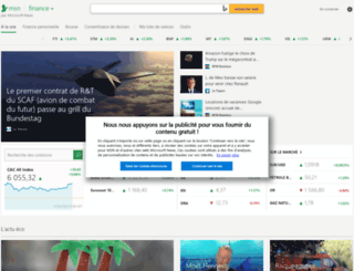 finances.fr.msn.com screenshot