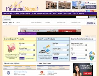 financialnepal.com screenshot