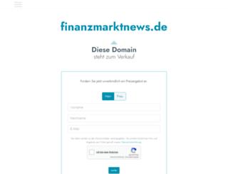 finanzmarktnews.de screenshot