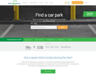findacarpark.com.au screenshot