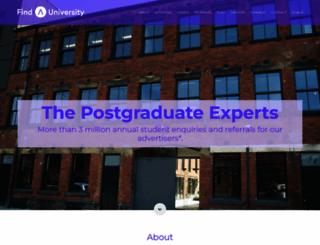 findauniversity.com screenshot