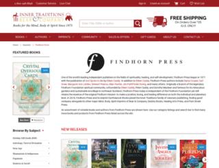 findhornpress.com screenshot