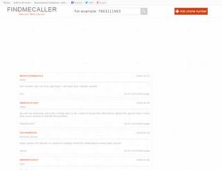 findmecaller.com screenshot