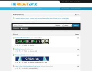 findminecraftservers.com screenshot