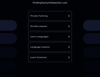 findmyfavouriteteacher.com screenshot