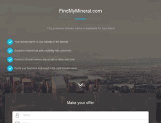 findmymineral.com screenshot