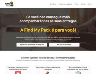 findmypack.com.br screenshot