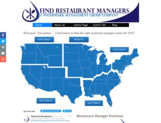findrestaurantmanagers.com screenshot