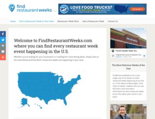 findrestaurantweeks.com screenshot