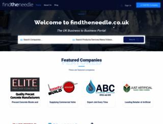 findtheneedle.co.uk screenshot