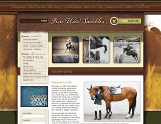 fine-used-saddles.com screenshot