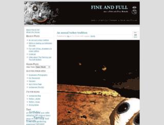 fineandfull.com screenshot