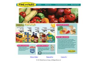 finefaresupermarkets.com screenshot