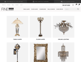 finehomelamps.com screenshot